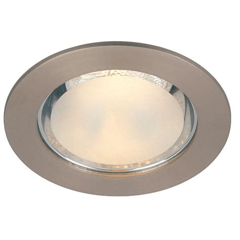 home depot recessed lighting trim commercial electric 4 in brushed nickel shower recessed
