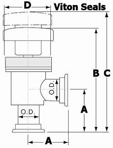Nw Manual Right Angle Vacuum Valve  U2013 Apex Vacuum