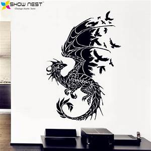 online buy wholesale stiker wall from china stiker wall With kitchen cabinets lowes with fantasy dragon wall art