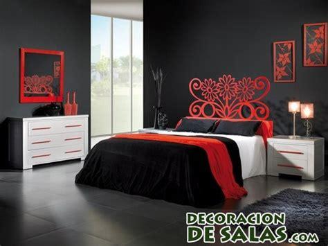 dormitorios en blanco negro  rojo decoracion de salas