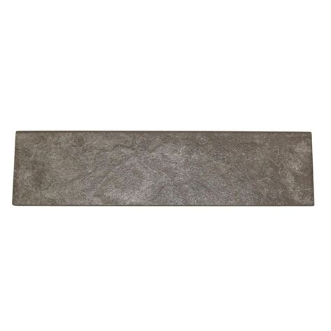 tile probe home depot finishing trim pieces daltile flooring continental slate english gray 3 in x 12 in porcelain