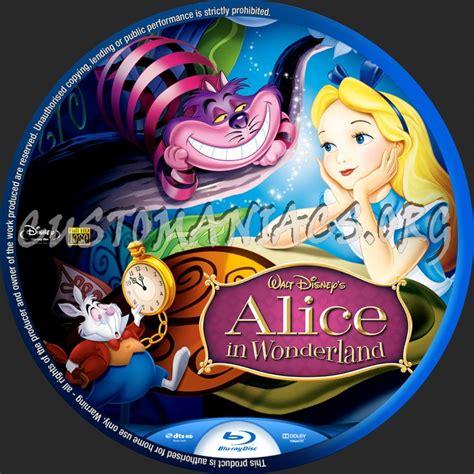 alice  wonderland  blu ray label dvd covers