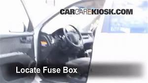 Interior Fuse Box Location  2005-2010 Kia Sportage