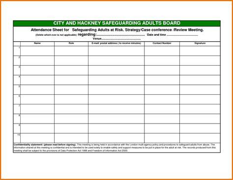 Template Word Attendance Sheet Template Word Exle Mughals
