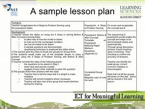 session04 ict for meaningful learning lesson planning With bloom taxonomy lesson plan template