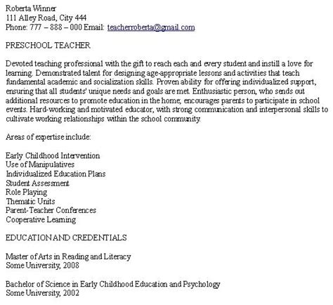 sle objective for preschool resume day care resume sales lewesmr