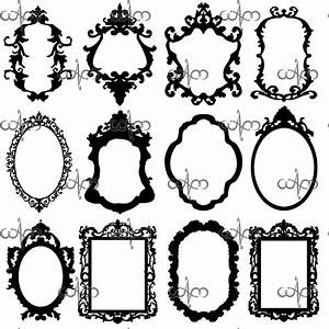 Baroque Frames Clip Art Graphic Design Pattern for your ...