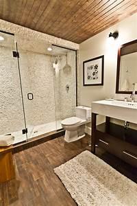 bathroom with wood tile floor home design elements With bathrooms with wood tile floors