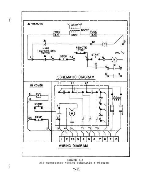 figure 7 4 air compressor wiring schematic and diagram