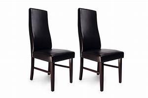 Chaise de cuisine salle a manger bois wenge jagoda lot for Salle À manger contemporaineavec lot chaises