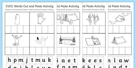 cvcc cut and paste worksheet cvcc cut paste worksheet work