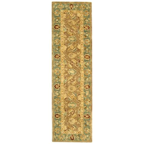 Wool Rugs by Tufted Brown Blue Wool Carpet Area Rug Runner 2 3 Quot X