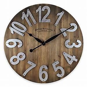 FirsTime® Slat Wall Clock in Wood - Bed Bath & Beyond