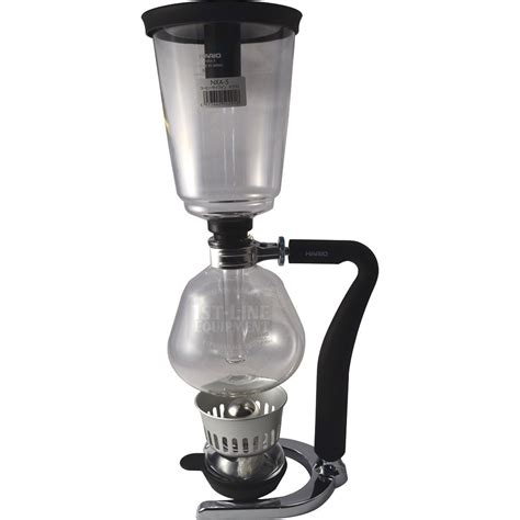 With a 20 ounce capacity, this siphon coffee maker brews a mean cup of coffee. Hario Next 5 Cup Syphon Coffee Maker