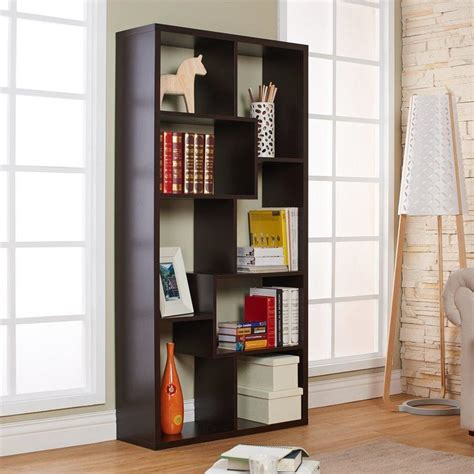 Shop Enitial Lab Kamille Walnut 8shelf Bookcase At Lowescom