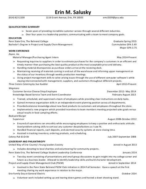Major Gpa In Resume by College Resume Major Gpa
