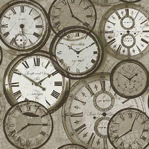 Tapeten Und Uhren : ideco luxus heim tapete pob 013 01 2 uhren zeit vintage klassisch retro tapeten ~ Orissabook.com Haus und Dekorationen