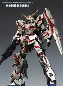 HGUC 1/144 RX-0 Unicorn Gundam (Destroy Mode) Custom Paint ...