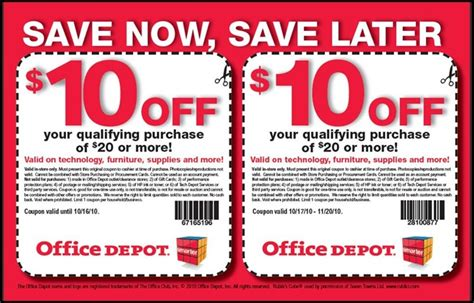 Office Depot Coupons For Printer Ink by Easy Coupons To Clip Awesome Deals At Office Depot