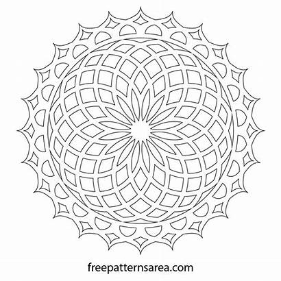Mandala Lotus Geometric Vector Pattern Flower Printable