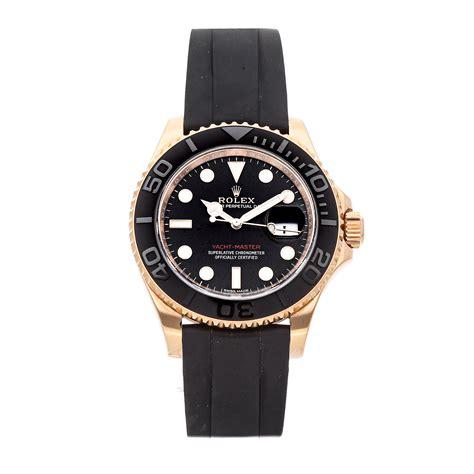 Men Rolex Yacht-master 116655 Dial Black Mechanical ...
