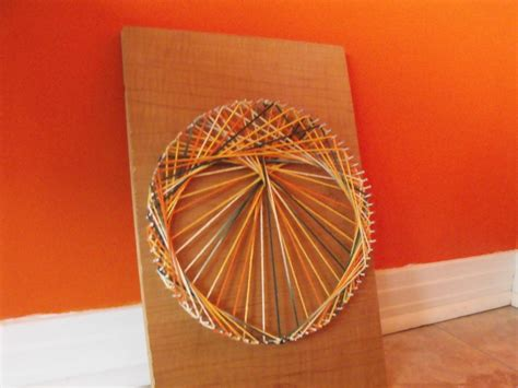 string art string art weaving  yarn craft