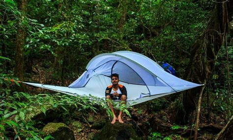 Hanging Hammock Tent by Portable Tree House Multi Person Hammock Triangle Hanging