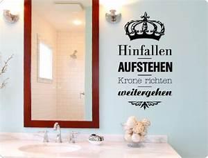 Spruch Krone Richten : wandsticker spr che und zitate onlineshop mit g nstigen preisen ~ Markanthonyermac.com Haus und Dekorationen