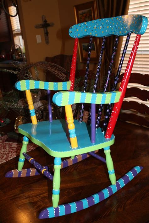 25 best ideas about painted rocking chairs on