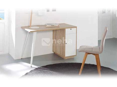 bureau bois et blanc finest affordable chambre complte adulte moderne blanc