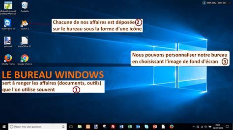 Window Si by Comment Est Organis 233 Le Bureau Windows Coursinfo Fr