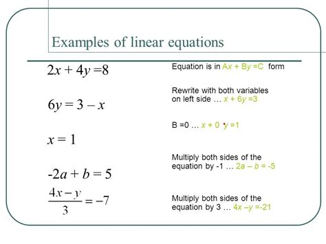 Tlw Identify Linear Equations And Intercepts  Ppt Video