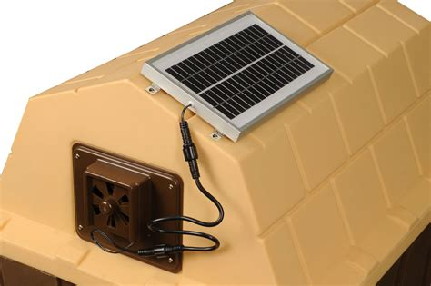 solar fan for house doghouse exhaust fans insulated doghouses by asl