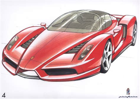 ferrari drawing ferrari enzo sketch 1024x768 wallpaper