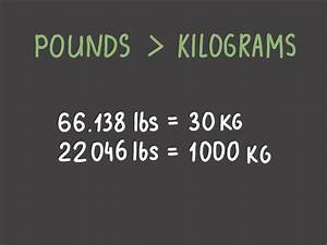 How To Convert Pounds To Kilograms  6 Steps  With Pictures
