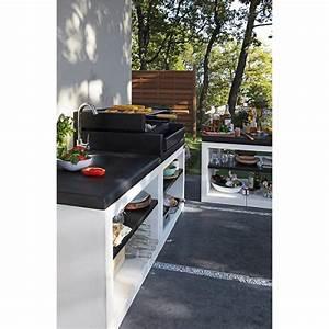 Barbecue Electrique Leroy Merlin : barbecue en b ton blanc cass et noir kitaway grill ~ Dailycaller-alerts.com Idées de Décoration