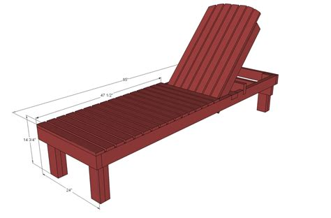 ana white  wood chaise lounges diy projects