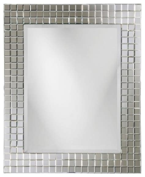 uttermost wall sconces michael square glass beveled tile frame mirror