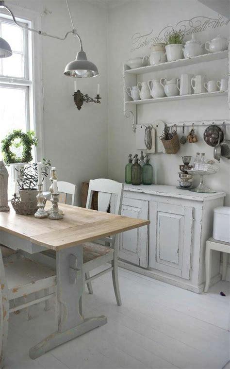 deco cuisine shabby rénovation cuisine décorer une cuisine shabby chic élégante