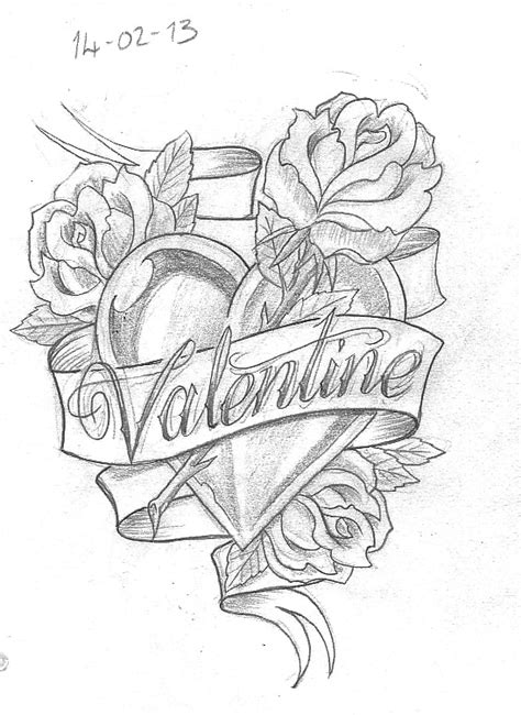 Tattoo Sketch A Day: Flowers February 8th - 14th
