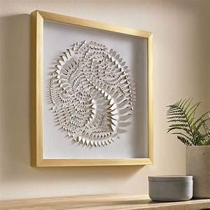 Golden, Leaves, Framed, Wall, Art
