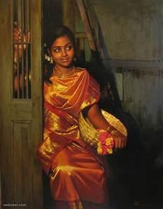 25 Beautiful Rural Indian Women Paintings by Tamilnadu ...