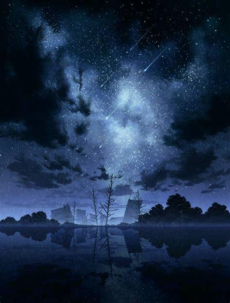 Anime Night Sky Wallpaper 高清的聊天背景图片 尽量多一点 百度知道