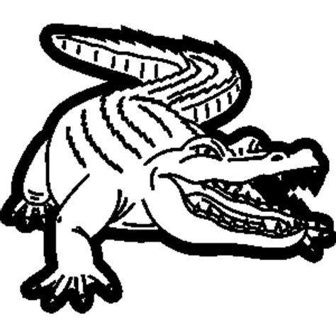 gator black and white clipart clipart suggest