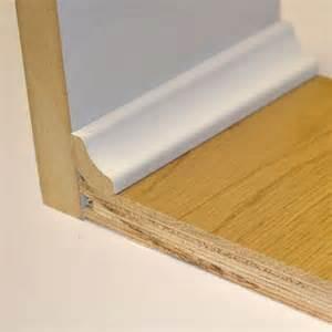 laminate flooring quadrant hdf white scotia beading for laminate floors 18x18 mm 2 4 m tradition flooring