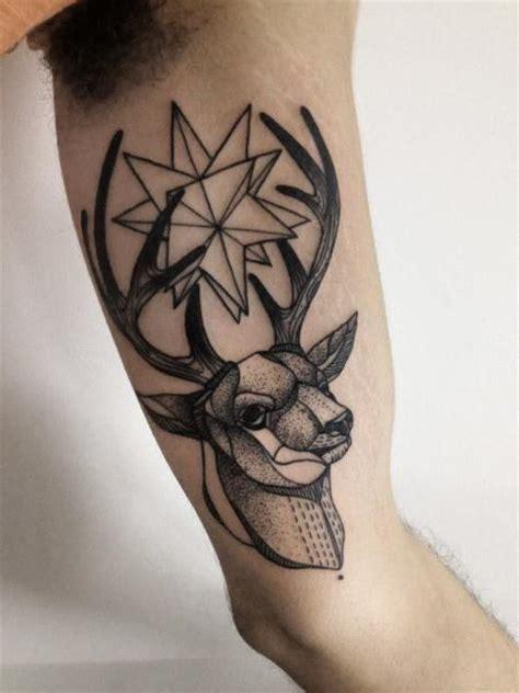 arm dotwork reh tattoo von michele zingales