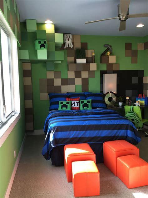 teenage boys bedroom design  minecraft theme