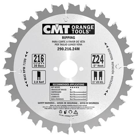 CMT Ripping Blade   250mm x 24 Teeth   Rip Cutting   Carbatec