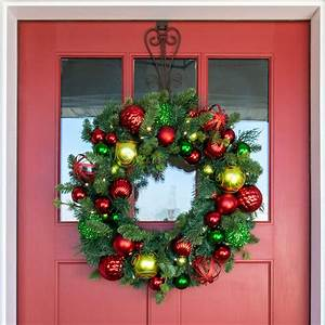30, Inch, Artificial, Christmas, Wreath, -, Festive, Holiday, Collection