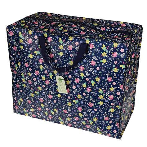 grand sac de rangement jardin fleuri marmaille